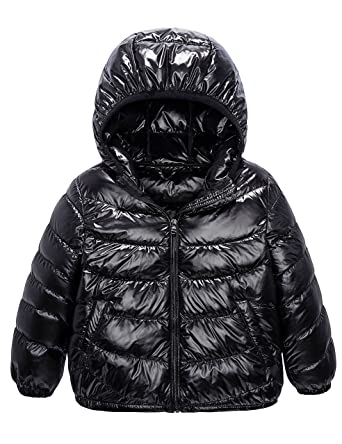 86692309c5e Boys & Girls Ultra Light Down Packable Coat, Sleeved Outerwear Compact  Windproof Puffer Jacket with