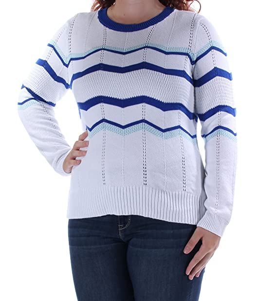 8b2993a5 Maison Jules Womens, Chevron Sweater, Multi, Size Large at Amazon ...