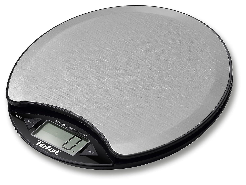 Tefal BC1500V0 Mesa Báscula electrónica de cocina Negro, Plata - Báscula de cocina (Báscula electrónica de cocina, 5 kg, 1 g, Negro, Plata, Acero inoxidable ...