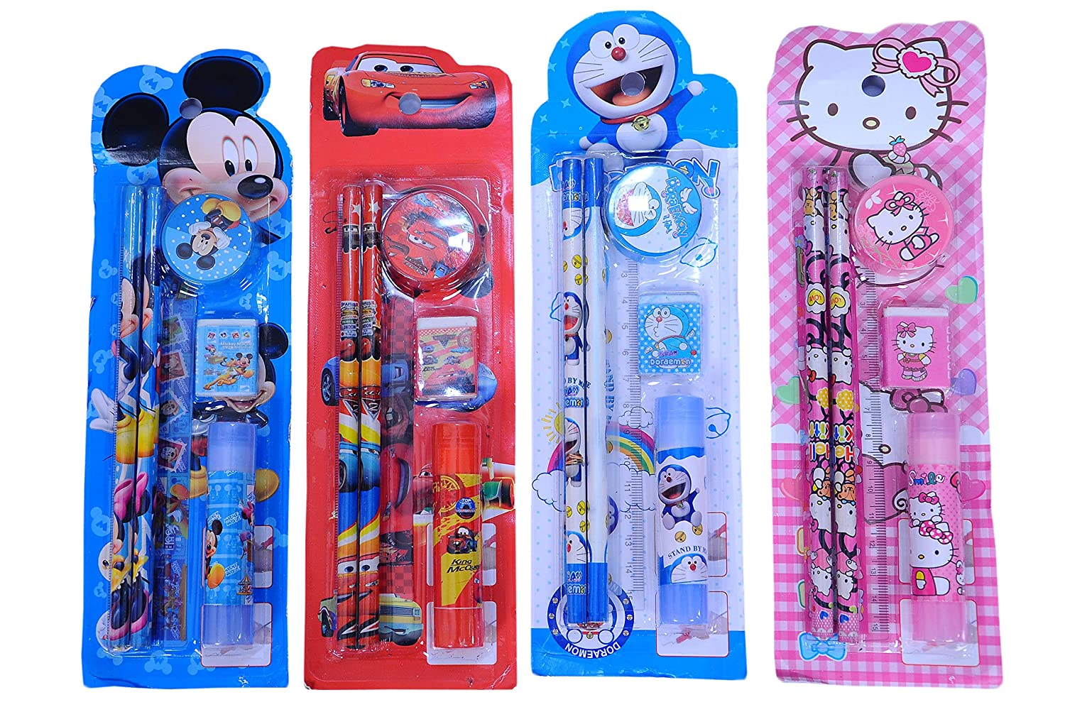 Sr Gifts Mix Stationery Kit Set For Kids Birthday Party Return Gifts Pack Of 12