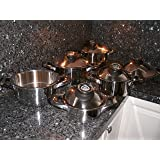 Swiss Made Cooking ware Pot Set 12 Piece Casserole Saladmaster Pans Cooking Retail $ 2199,= Waterless Healthy