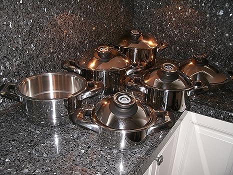 Swiss Made cocina Ware Pot Set 12 piezas Cacerola Saladmaster sartenes cocina al por menor $2199