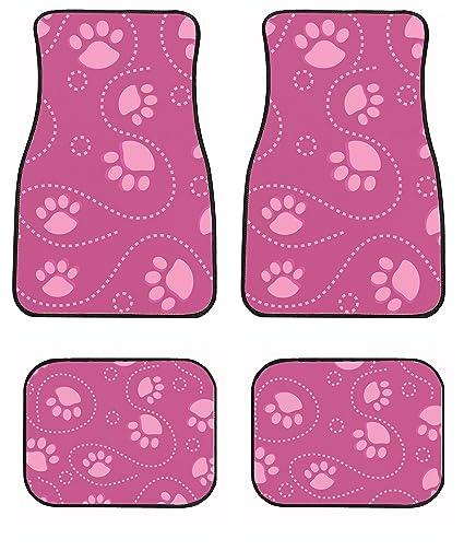 Amazon.com: Huella de perro rosa Auto Coche Conjunto De ...