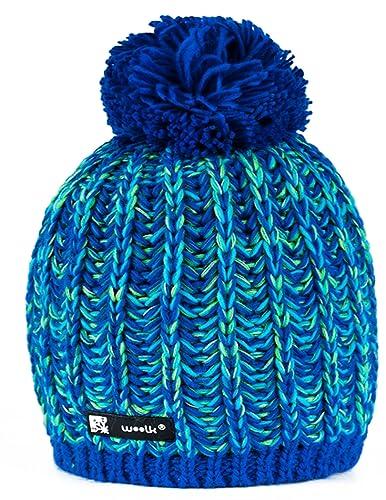 Gorro Morefaz Ltd de punto para hombre y mujer, de lana, estilo esquimal con pompón, ideal para invi...