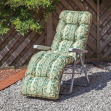 Alfresia Fauteuil relax de jardin traditionnel avec coussin épais ...