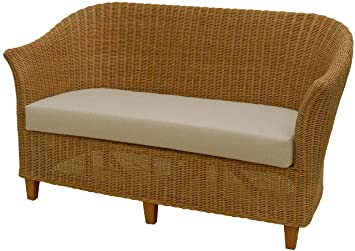 Hervorragend Rattan-Sofa 2-Sitzer CLUB in der Farbe Honig inkl. Sitzpolster II89