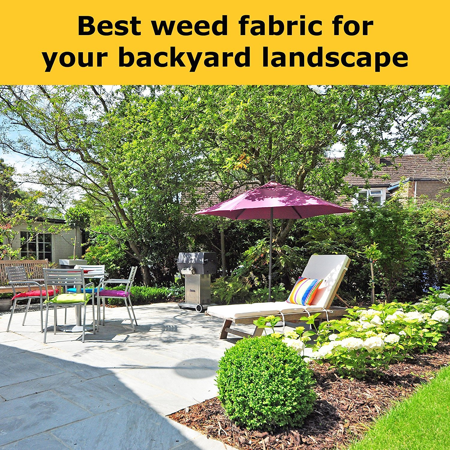 Pro 5 Ounce Weed Barrier - Weed Control Landscape Fabric - Woven Geotextile Fabric - Erosion Control Mulch Mat - Garden Ground Cover Fabric - 6Ft X 250Ft Black by UNI-SOURCE-TEXTILE (Image #3)