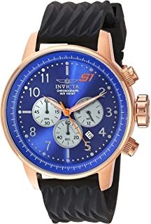 Invicta Mens S1 Rally Quartz Stainless Steel and Silicone Casual Watch, Color: