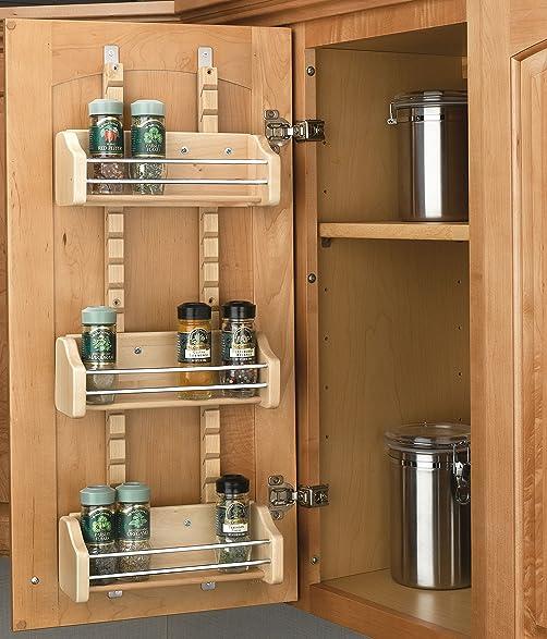 Rev A Shelf   4ASR 15   Small Cabinet Door Mount Wood Adjustable