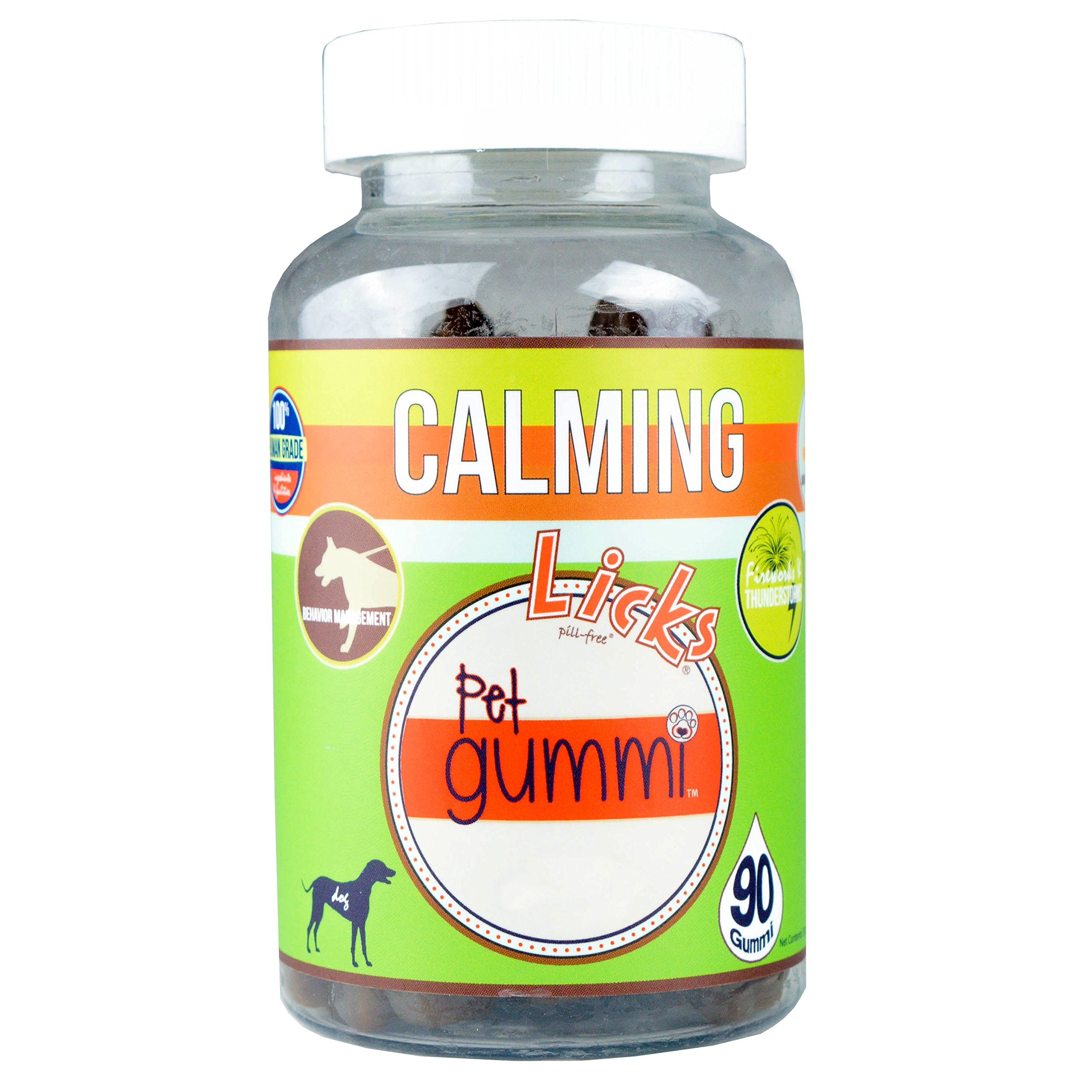 Licks Pill Free NEW! LICKS Dog Calming Pet Gummi Vitamins - 90-count