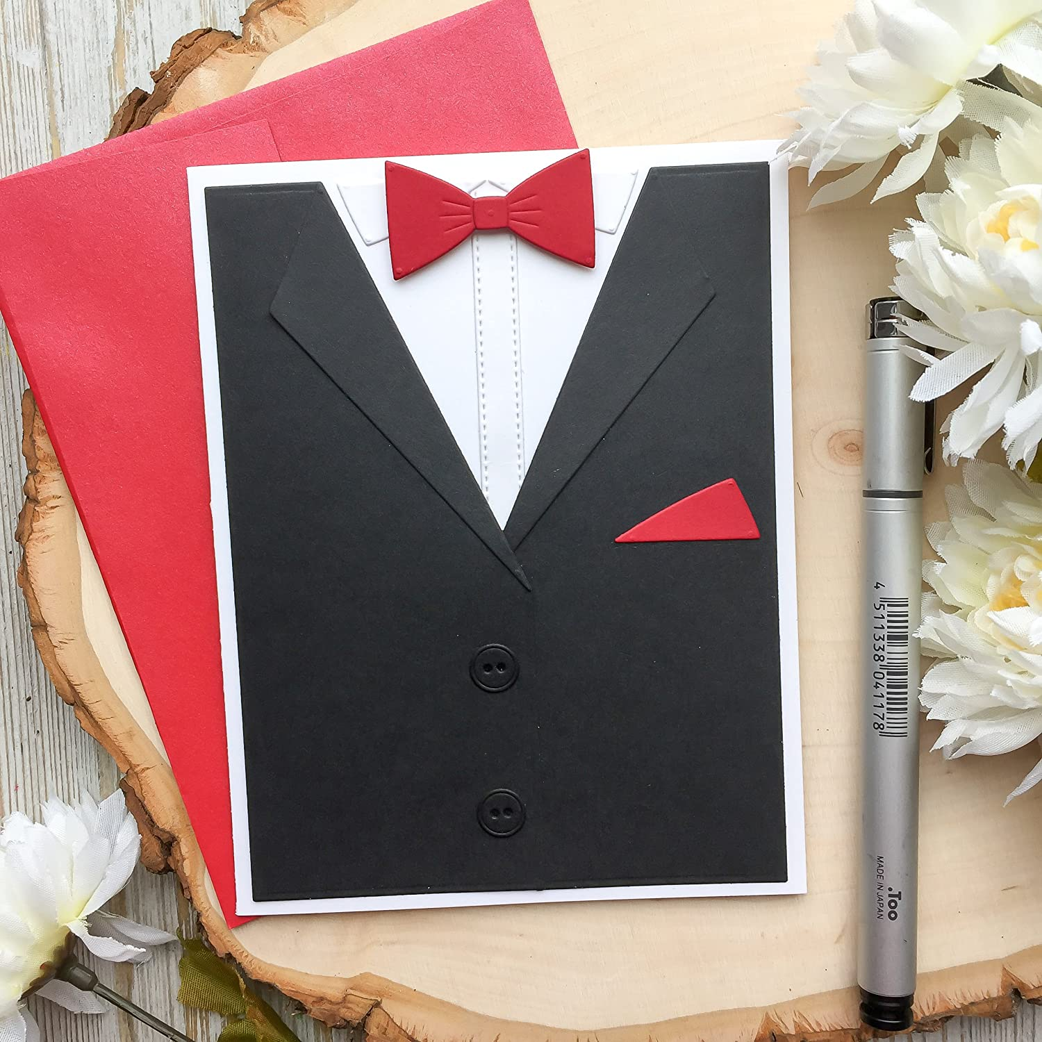 Amazon Birthday Card Handmade Fathers Day Tuxedo Dads Shirt For Men Brother Father