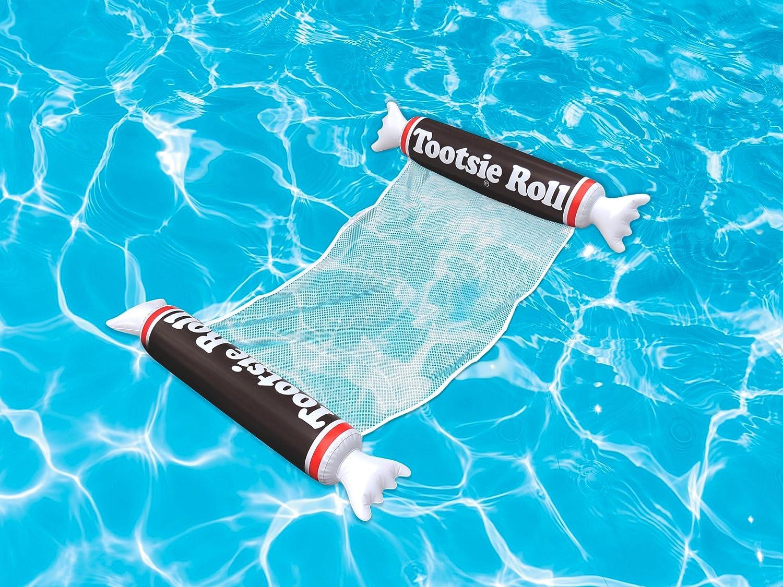Playtek TR8017 Pool Float Tootsie Roll Hammock, Brown