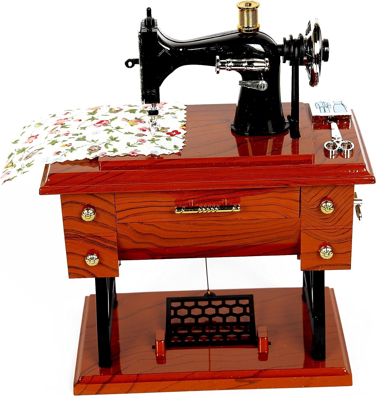 FreshGadgetz Caja musical con forma de máquina de coser. A ...