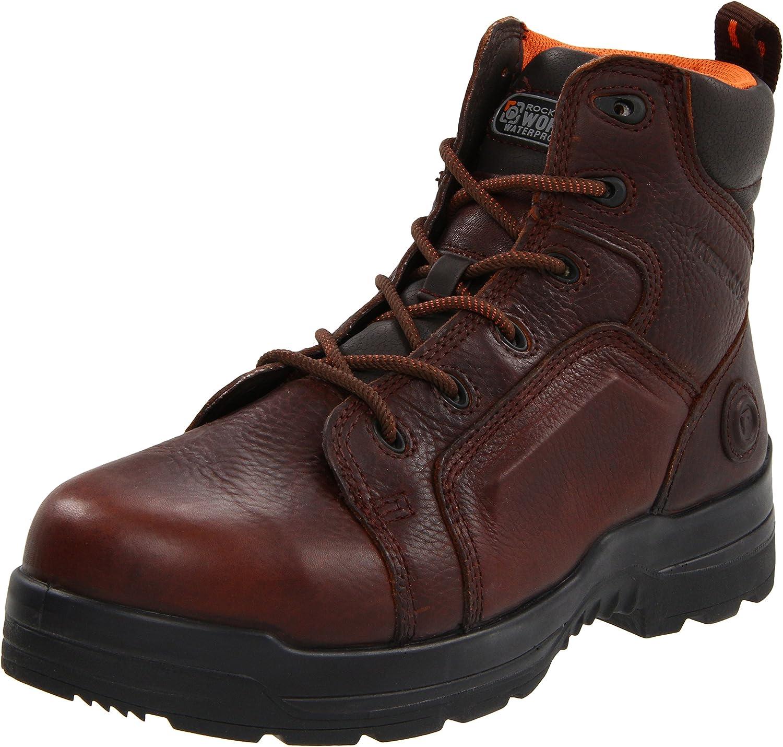 marron cuir 42 EU Rockport Work Hommes's RK6640 Work démarrage