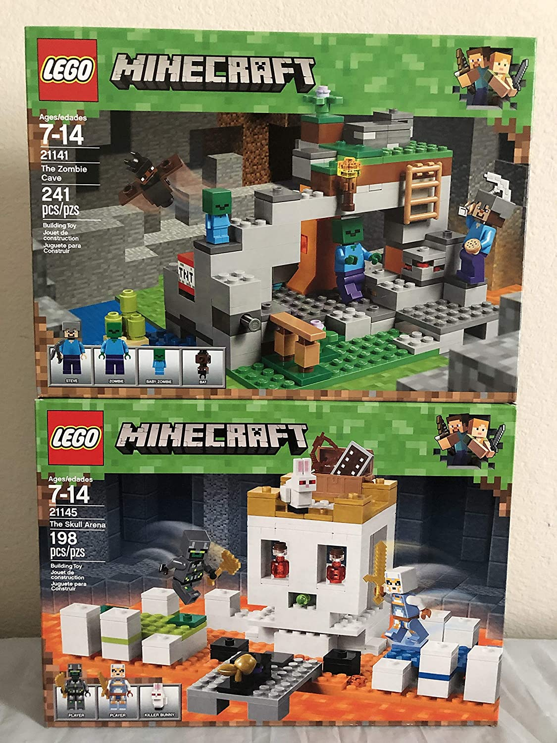LEGO Minecraft The Skull Arena & LEGO Minecraft The Zombie Cave