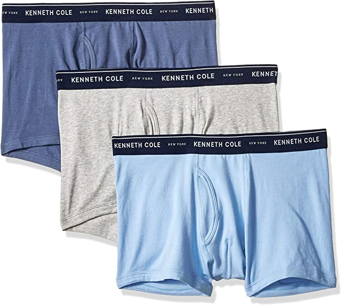 Kenneth Cole New York Mens Cotton Stretch Trunk 3 Pk
