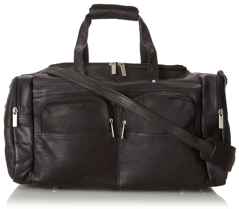 19 X 9.5 Inch Multi Pocket Duffel Black One Size David King /& Co