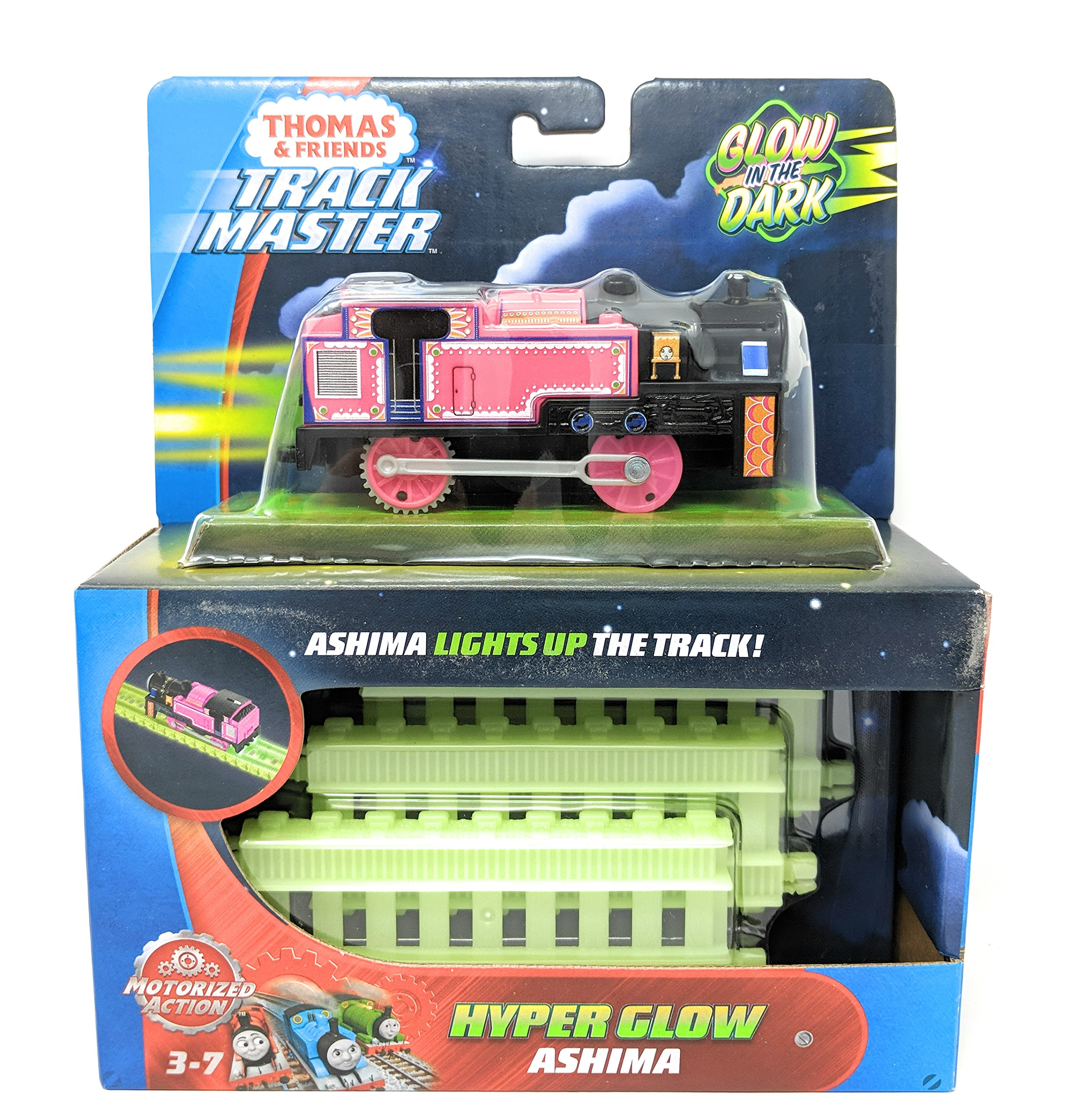 Thomas & Friends Fisher-Price TrackMaster, Motorized Hyper Glow Ashima