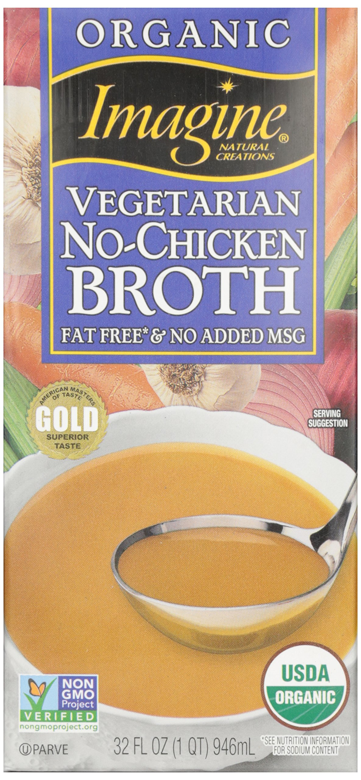 Imagine No Chicken Broth, Organic, 32 oz