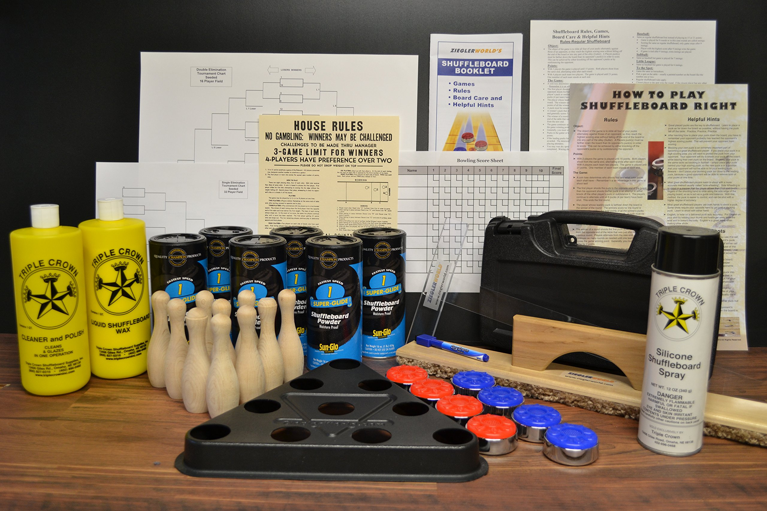Table Shuffleboard Pucks - Weights Wax Everything Kit Package Deal! by Zieglerworld (Image #1)
