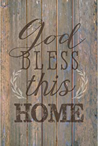 Dexsa God Bless This Home…New Horizons Wood Plaque with Easel