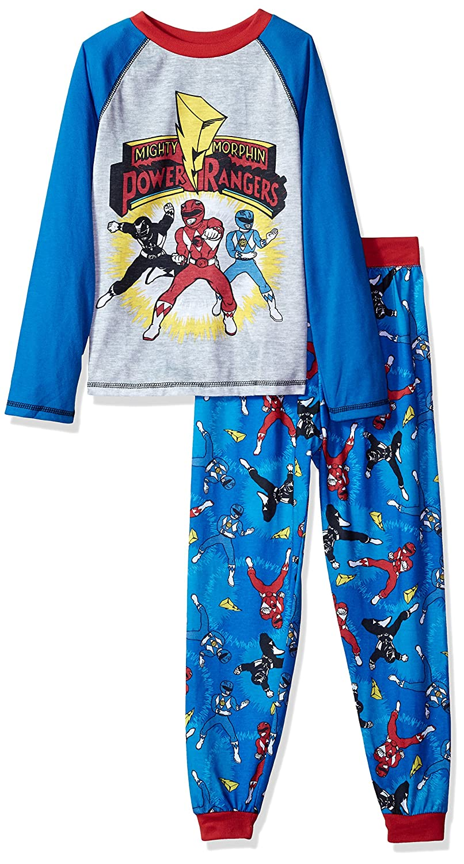 Power Rangers boys Big Boys Mighty Morphins 2 Piece Jersey Sleep Set K183301PW