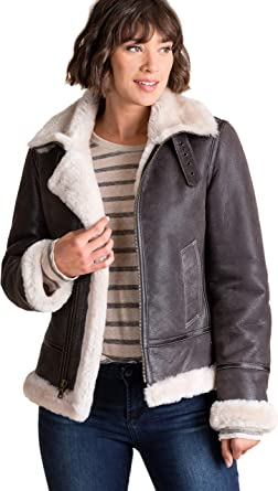 Jane Sheepskin B-3 Bomber Jacket at Amazon Women s Coats Shop 09a19bff8