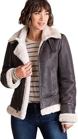 c946b116ab Jane Sheepskin B-3 Bomber Jacket at Amazon Women s Coats Shop
