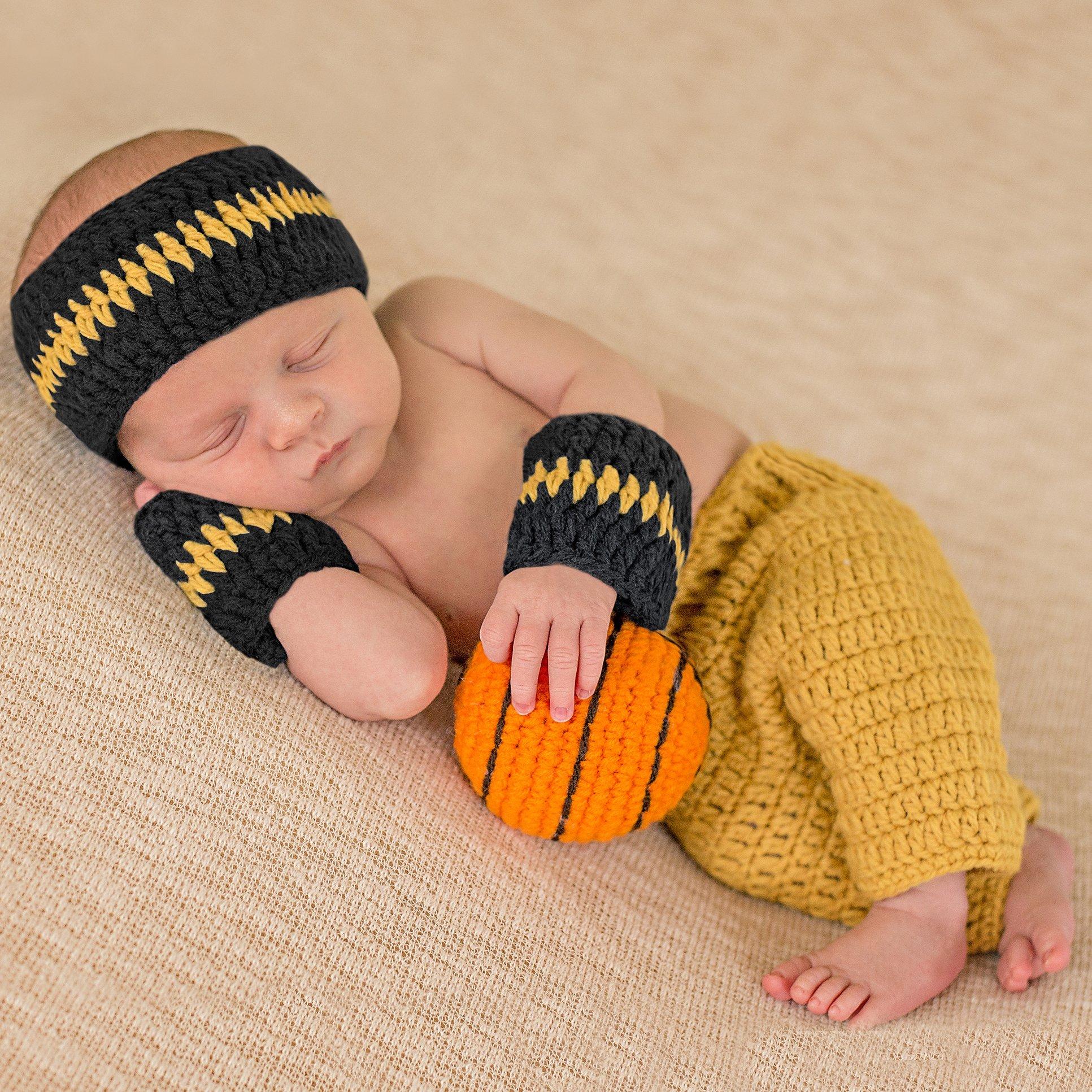 Melondipity Baby Boys Basketball Set - Sweatband, Wristband, Shorts and Ball by Melondipity Baby Hats (Image #2)