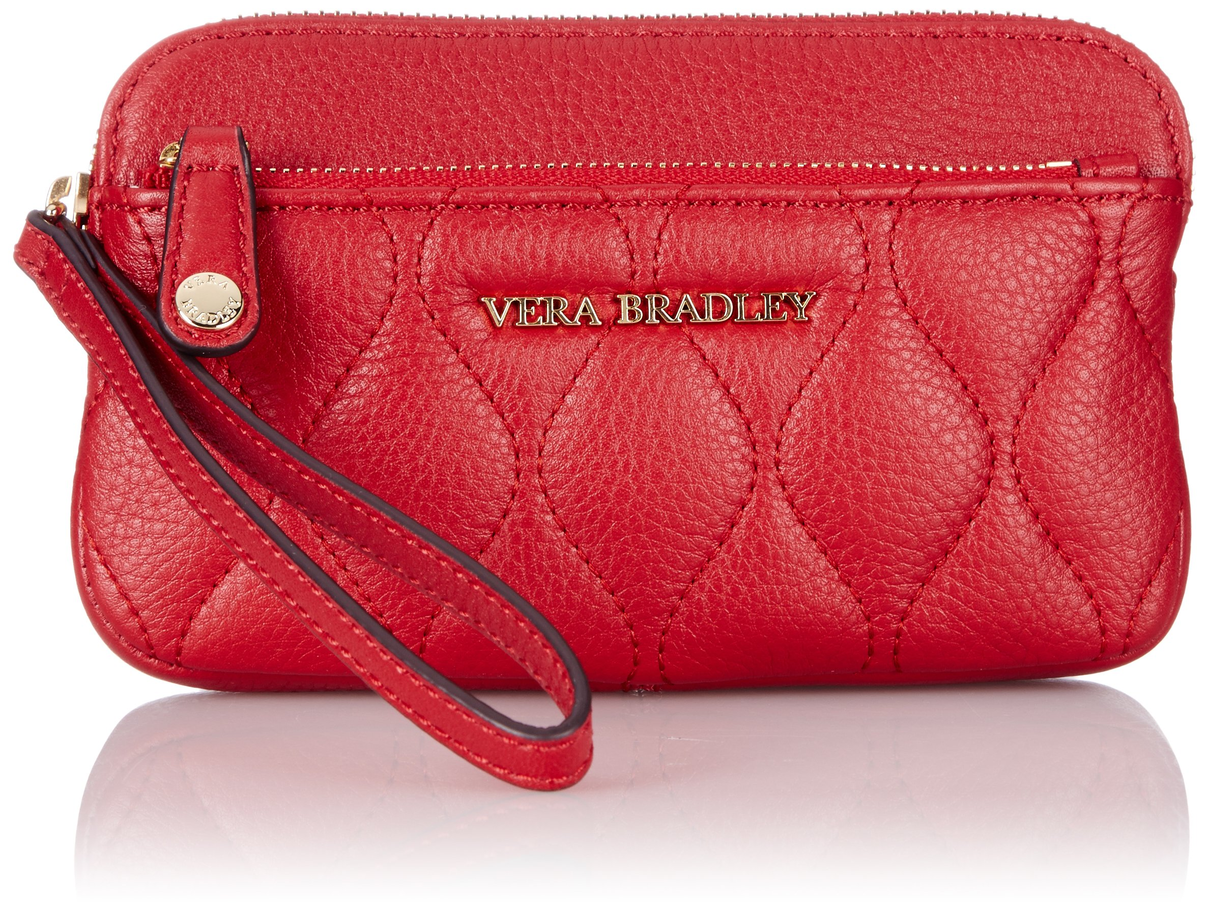 Vera Bradley Quilted Sophie Wristlet Wallet, Tango Red, One Size