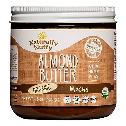 Naturally Nutty – 15oz. Mocha orgánico de almendra ...