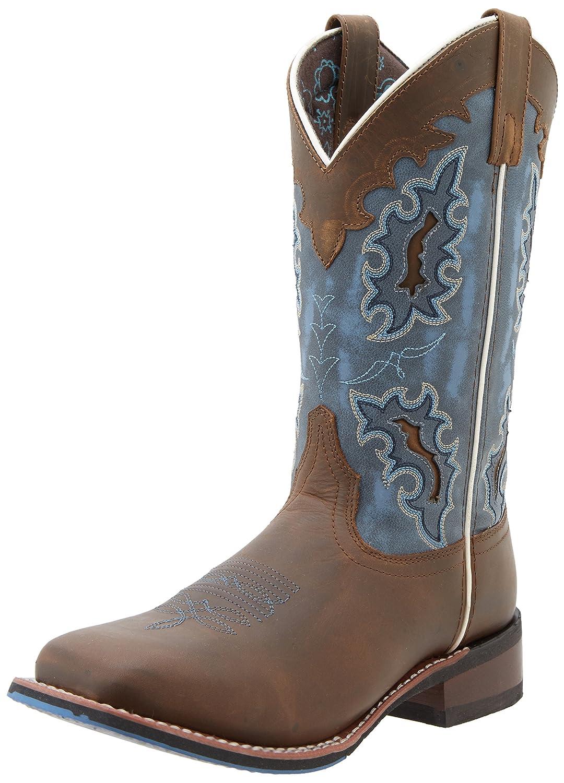 Laredo Women's Isla Western Boot B00MR96LQO 11 B(M) US|Tan/Blue