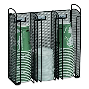 Safco Products 3292BL Onyx Mesh Cup and Lid Holder Organizer, Black