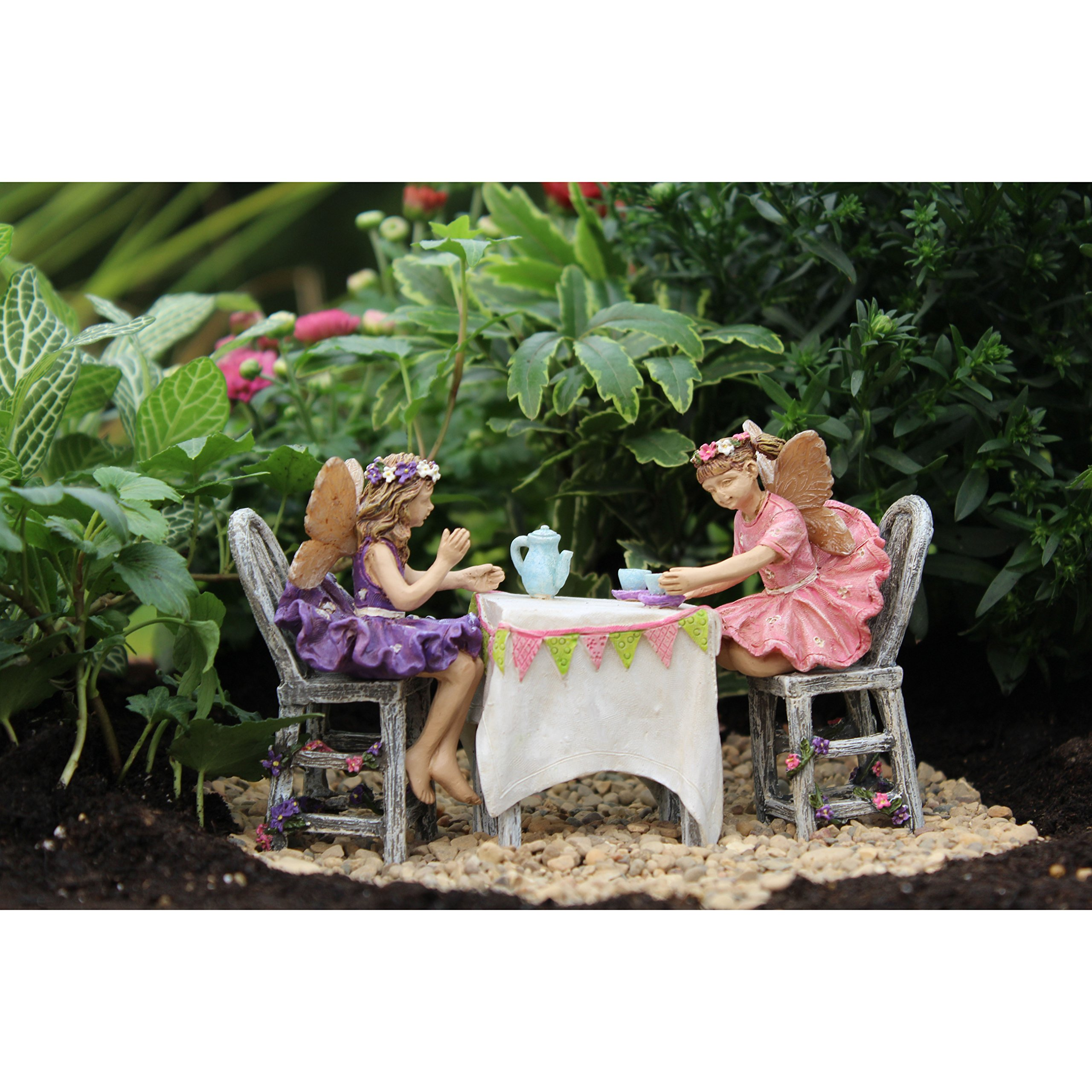 Miniature Fairy Garden ''Afternoon Tea'' Set of 5