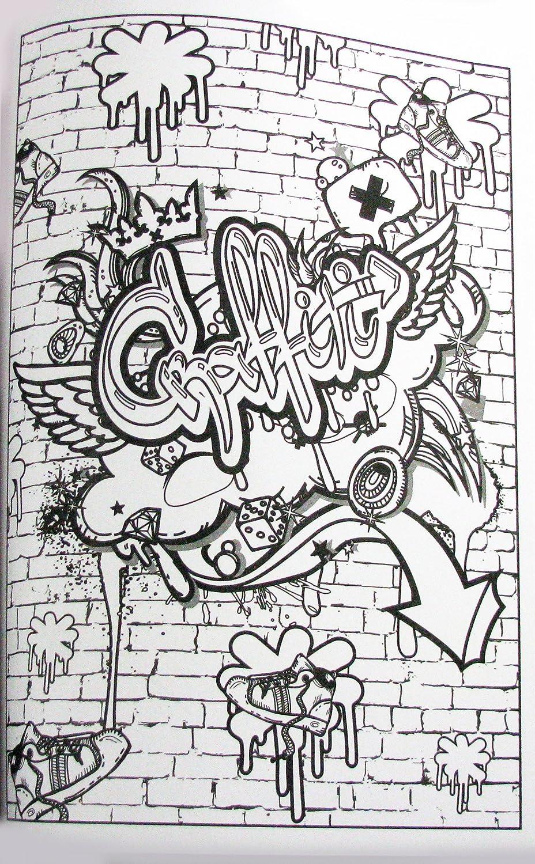 Graffiti Art Advanced Coloring Bendon