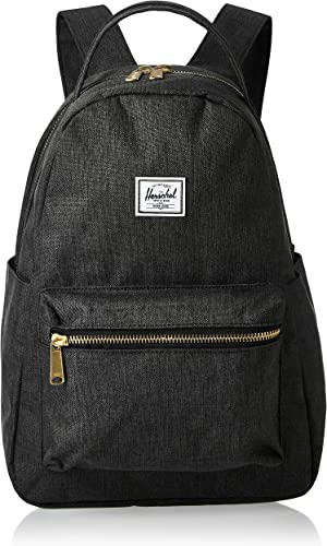 Herschel Nova Backpack, Black Crosshatch, Mid-volume 18.0L
