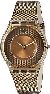 Swatch Women's SFC105 Hexed Year-Round Analog Quartz Gold Watch