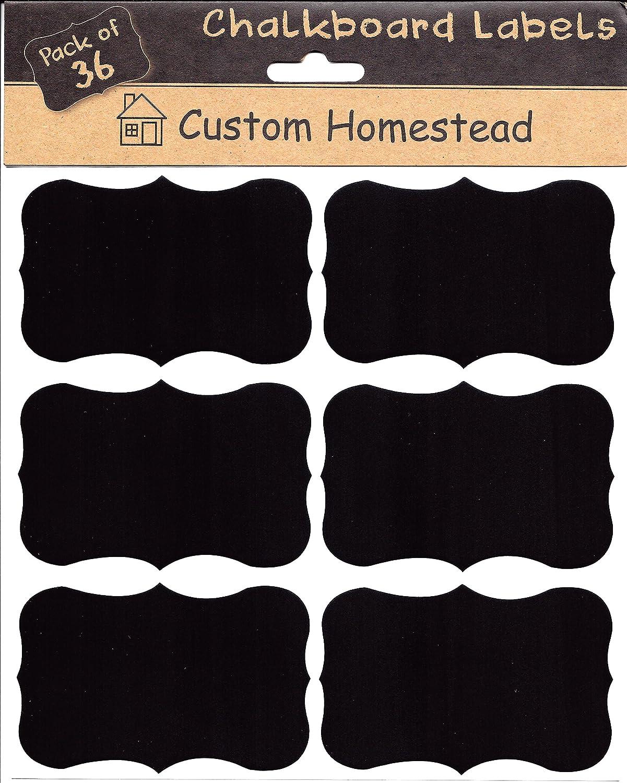 amazon com 36 large fancy rectangle chalkboard labels