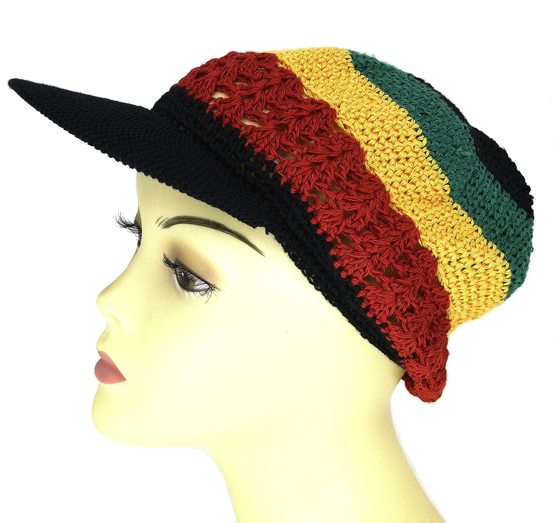 d3d5e5d0c9432 Amazon.com  Visor Brim Knit Kufi Hat - Koopy Cap - Crochet Beanie with Brim  (African)  Beauty