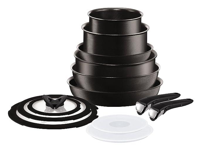 Tefal Ingenio Talent Set de 6 Piezas con Dos Mangos, Aluminio, Negro, 28 cm: Amazon.es: Hogar