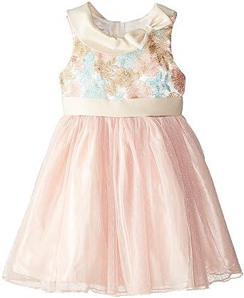 e1b364d6434 Amazon.com: Bonnie Jean Little Girls' Multi Colored Embroidered To ...