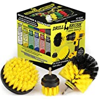 Drill Brush Attachment - Bathroom Surfaces Tub, Shower, Tile and Grout All Purpose Power Scrubber Cleaning Kit –Grout…