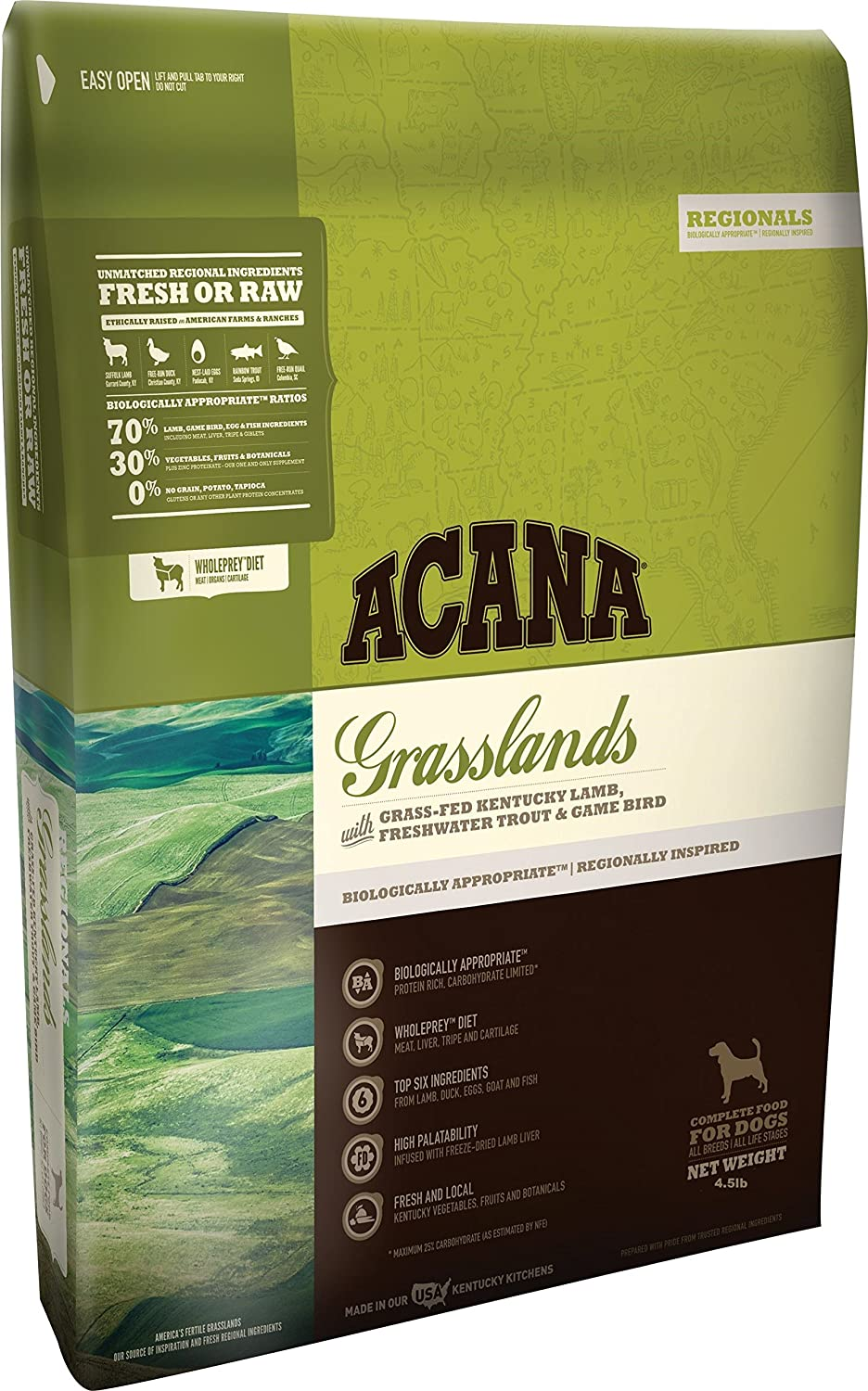 Acana Regionals Grasslands for Dogs, 4.5lbs