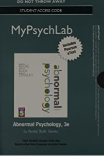 Amazon abnormal psychology books a la carte plus new new mypsychlab with pearson etext standalone access code for abnormal psychology fandeluxe Choice Image