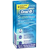 Oral-B 2-Pack of 50 Count Mint Super Floss Pre-Cut Strands