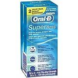 OralB Super Floss PreCut Strands Mint 50 Count twin pack