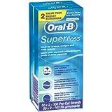 Oral B Super Floss Pre-Cut Strands-Twin, Mint, 100 Count