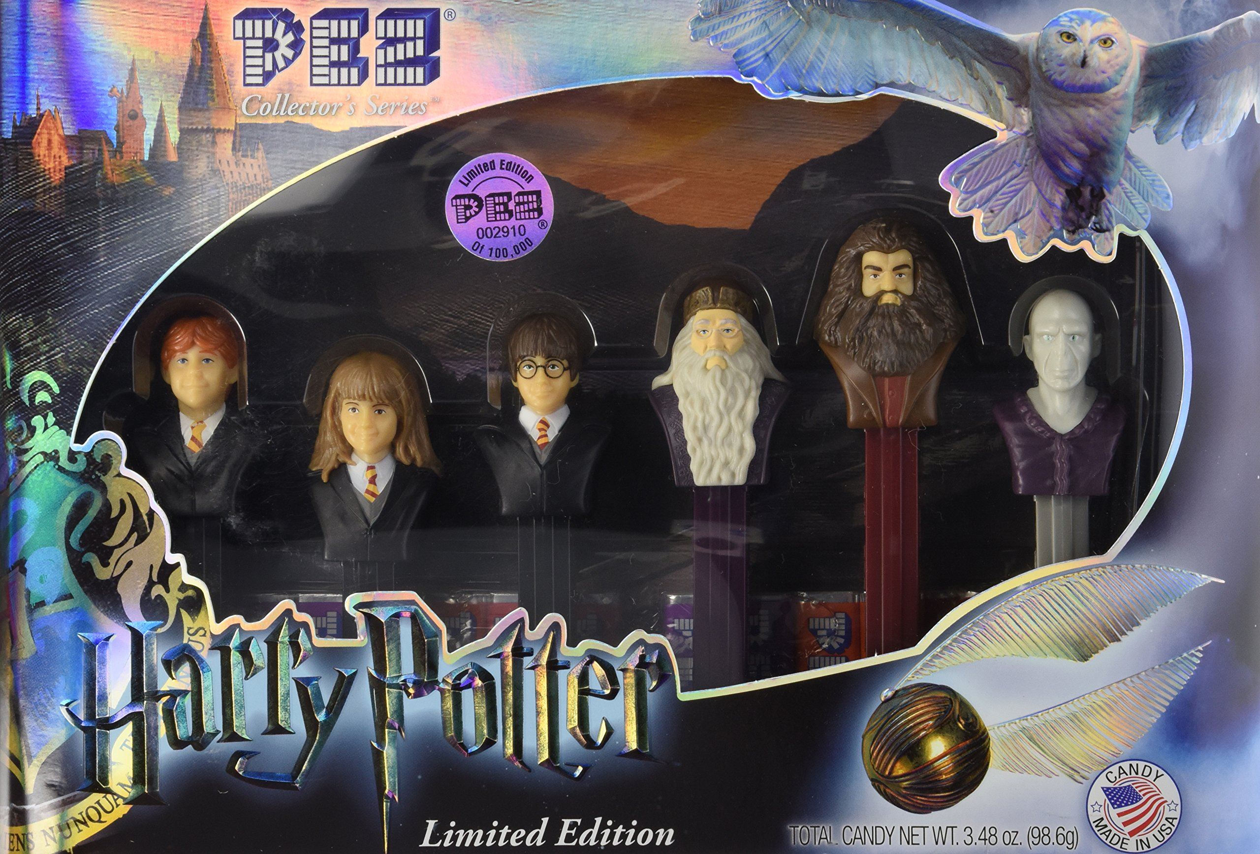 PEZ Harry Potter Limited Edition Collector's Series Gift Set of 6 Candy Dispensers