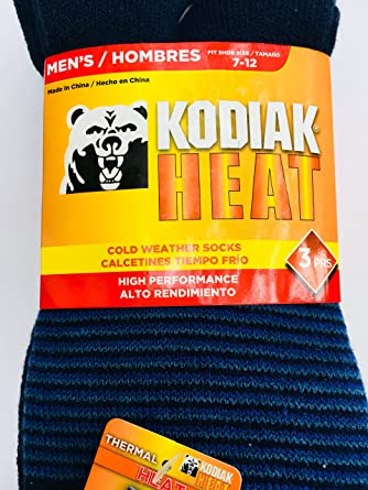Kodiak Heat Cold Weather Socks, 3 pair