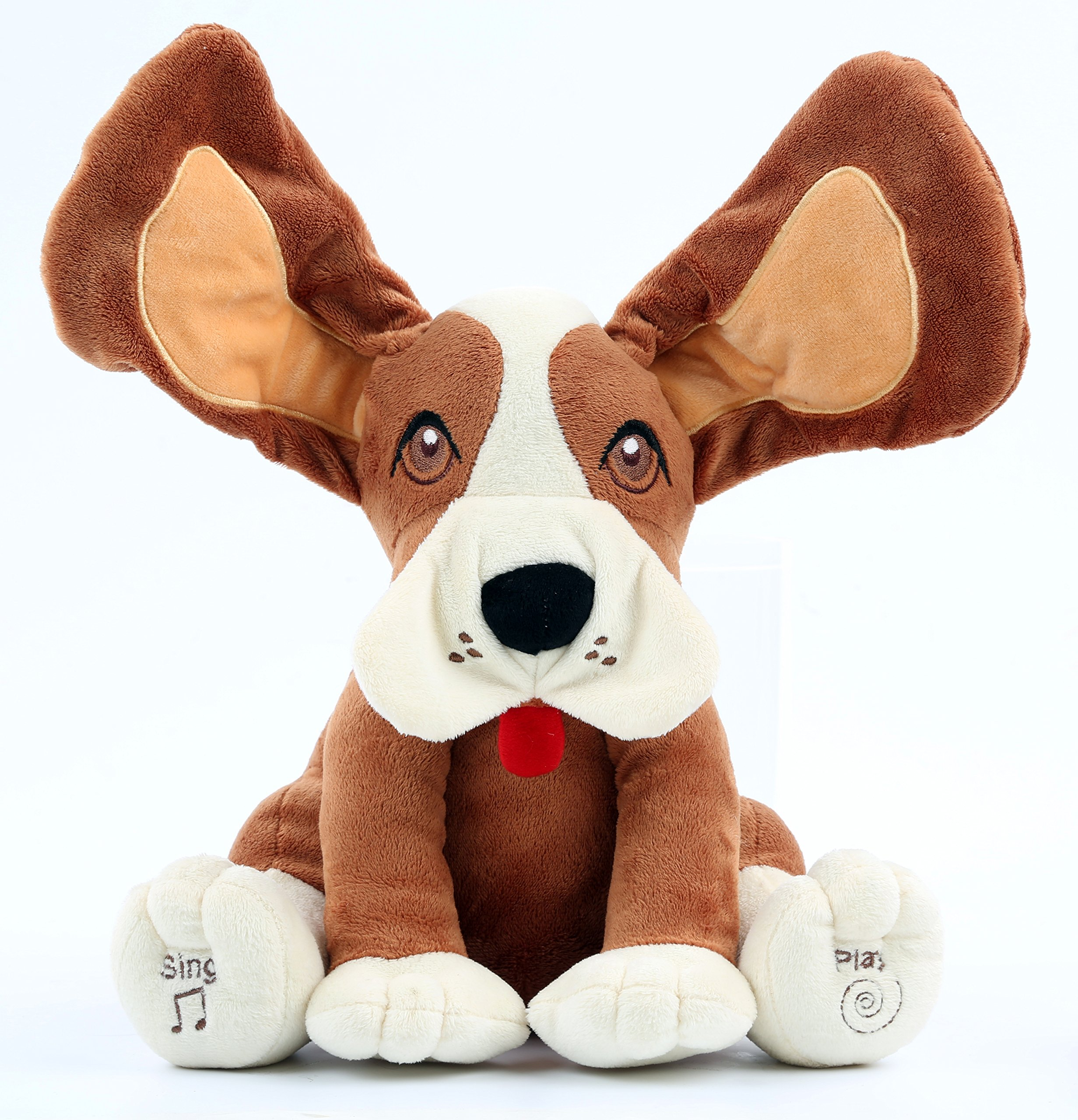Animal House Plush Peek A Boo Singing Dog with Floppy Ears | Plays Peek-A-Boo & Sings Do Your Ears Hang Low? by Animal House
